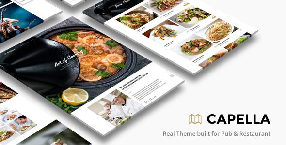Capella - El mejor tema WordPress para restaurantes