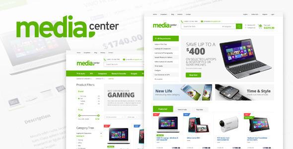 MediaCenter Plantilla electronicos WordPress