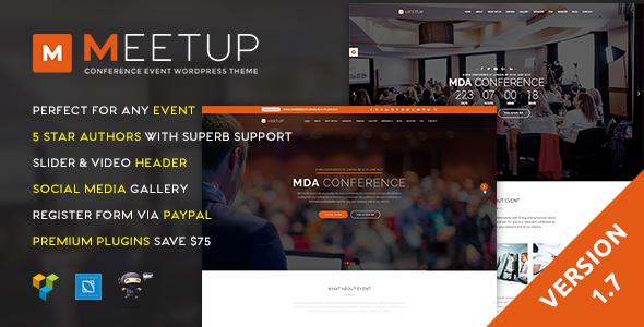 Meetup - plantillas WordPress para eventos