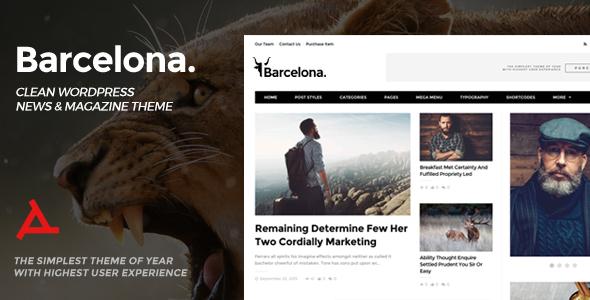 Plantilla WordPress para Portales de Noticias Barcelona