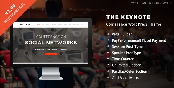 Tema WordPress para conferencias Keynote