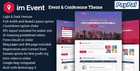 im Event - la mejor plantilla wordpress para productora de eventos