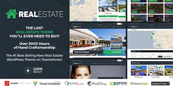 la mejor plantilla para vende propiedades - Real Estate 7