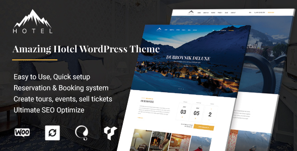 plantilla WordPress para hoteles Hotel WP